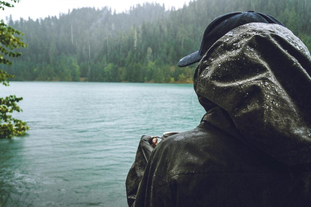 Trekking con la pioggia