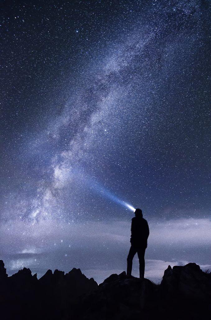 montagna di notte